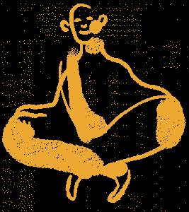 Hypothese über Meditation aufstellen | Illustration