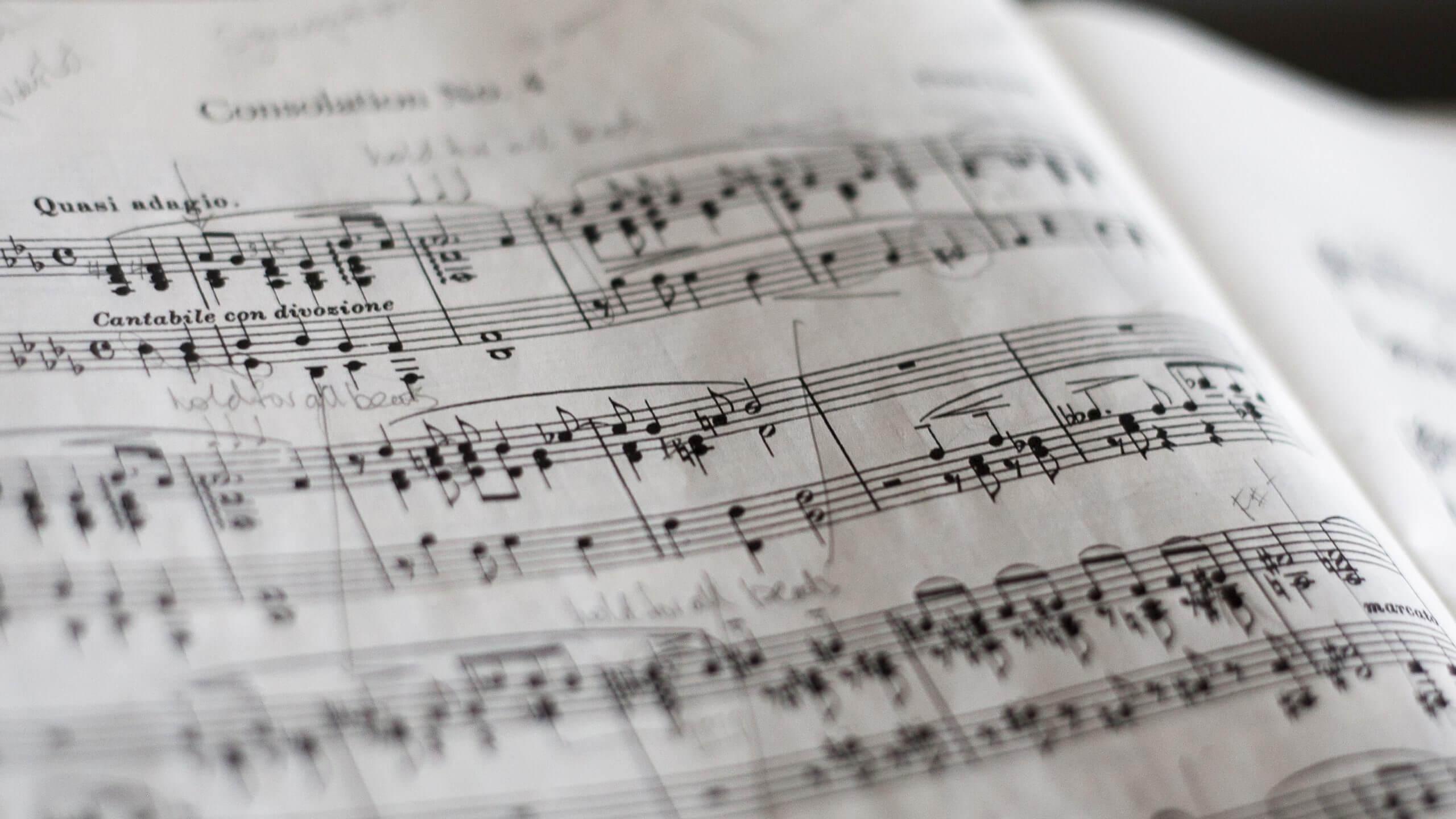 Notenblatt – Ghostwriter Musikwissenschaften